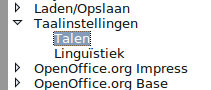 taalinstellingen talen
