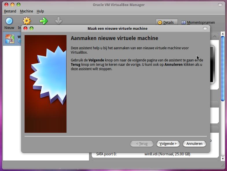 virtualbox nieuw